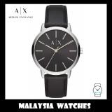 (100% Original) Armani Exchange Men's AX2703 Three-Hand Leather Watch (Black)