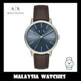 (100% Original) Armani Exchange Men's AX2704 Cayde Blue Dial Leather Watch (Brown)