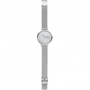 (100% Original) Skagen Ladies SKW2701 Anita Stainless Steel Mesh Watch (Silver)