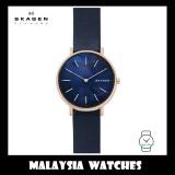 (100% Original) Skagen Ladies SKW2731 Signature Slim Leather Watch (Blue)