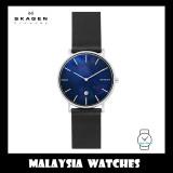 (100% Original) Skagen Mens' SKW6471 Hagen Slim Leather Watch (Black)