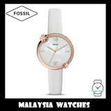 Fossil Women ES4601 Presley Three-Hand White Leather Watch