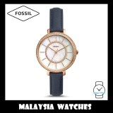 Fossil Women ES4456 Jocelyn Three-Hand Navy Leather Watch
