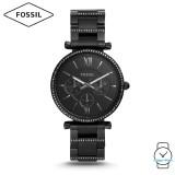 Fossil Women ES4543 Carlie Multifunction Black Stainless Steel Watch