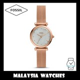 Fossil Women ES4505 Carlie Mini Three-Hand Rose Gold-Tone Stainless Steel Watch