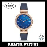 Fossil Women ES4538 Madeline Three-Hand Navy Leather Watch