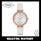 Fossil Women ES4581 Madeline Three-Hand White Leather Watch