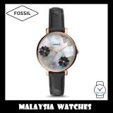 Fossil Women ES4535 Jacqueline Three-Hand Black Leather Watch