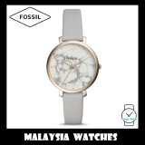 Fossil Women ES4377 Jacqueline Three-Hand Mineral Grey Leather Watch