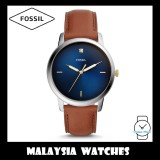 (OFFICIAL WARRANTY) Fossil Men's FS5499 The Minimalist Carbon Series Three-Hand Luggage Leather Watch