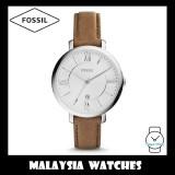 Fossil Women ES3708 Jacqueline Three-Hand Brown Leather Watch