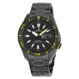 Seiko Automatic Diver's 200M SRP499K1 Stainless Steel Gents Watch (Black & Yellow)
