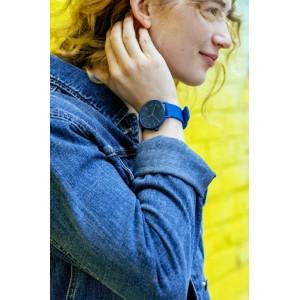 (100% Original) Skagen Unisex SKW6508 Aaren Kulør Blue Silicone Watch (Blue)