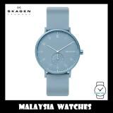 (100% Original) Skagen Unisex SKW6509 Aaren Kulør Light Blue Silicone Watch (Light Blue)