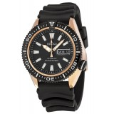Seiko Automatic Diver's 200M SRP500K1 Rubber/Resin Strap Gents Watch (Black & Rose Gold)