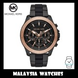 (100% Original) MICHAEL KORS Men's MK8666 Theroux Chronograph Black Stainless Steel Watch