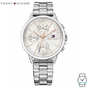 (100% Original) Tommy Hilfiger Ladies' 1781787 Carly Silver Stainless Steel Watch (Silver)