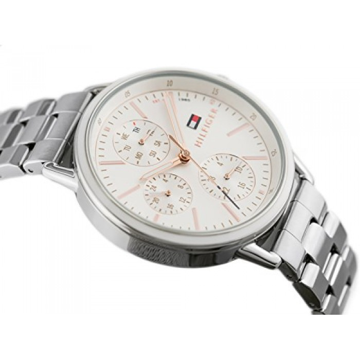 e4797a5e5 (100% Original) Tommy Hilfiger Ladies' 1781787 Carly Silver Stainless Steel  Watch (Silver)