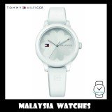 (100% Original) Tommy Hilfiger Ladies' 1781774 Ashley White Rubber Strap Watch (White)