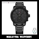 (100% Original) Tommy Hilfiger Men's 1791423 Briggs Black Stainless Steel Watch