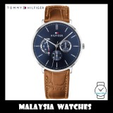 (100% Original) Tommy Hilfiger Men's 1710375 Dane Multi Dial Brown Leather Watch