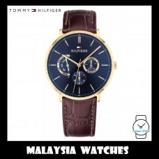 (100% Original) Tommy Hilfiger Men's 1710376 Dane Multi Dial Brown Leather Watch