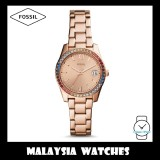 Fossil Women's ES4491 Scarlette Three-Hand Date Stainless Steel Watch (Rose Gold)
