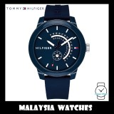 (100% Original) Tommy Hilfiger Denim Sport Men's 1791482 Silicon Watch (Blue)