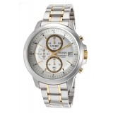 Seiko Men's Silver Stainless Steel Strap Watch SKS447P1 (Silver & Gold)