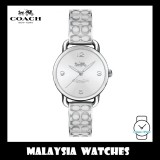 (100% ORIGINAL) Coach Ladies' 14502891 Delancey Silver Dial Bangle Stainless Steel Watch