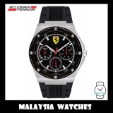 (100% Original) Scuderia Ferrari Men's 0830537 Aspire Watch (Black & Silver)