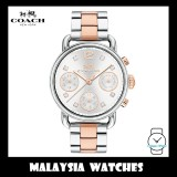 (100% ORIGINAL) Coach Ladies' 14502945 Delancey Silver Dial Two-Tone Watch (Rose Gold & Silver)