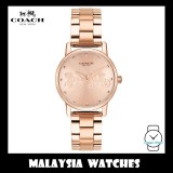 (100% ORIGINAL) Coach Ladies' 14502977 Rose Gold Dial Stainless Steel Watch