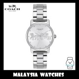 (100% ORIGINAL) Coach Ladies' 14502975 Silver Dial Stainless Steel Watch TWO (2) Years International Warranty