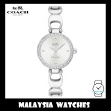 (100% ORIGINAL) Coach Ladies' 14503170 Park Signature C Silver Dial Stainless Steel Bangle Watch