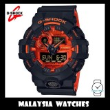 (OFFICIAL MALAYSIA WARRANTY) Casio G-SHOCK GA-700BR-1A SPECIAL COLOUR MODEL Bright Orange Analog-Digital Men's Resin Watch