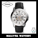 (OFFICIAL WARRANTY) Fossil Men's ME3101 Grant Automatic Black Leather Watch