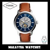 (OFFICIAL WARRANTY) Fossil Men's ME3154 Townsman 48mm Automatic Light Brown Leather Watch