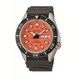 Seiko Automatic Diver's 200M SRP497K1 Rubber/Resin Strap Gents Watch (Black & Orange)