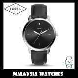 (OFFICIAL WARRANTY) Fossil Men's FS5497 The Minimalist Carbon Series Three-Hand Black Leather Watch