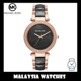 (100% Original) MICHAEL KORS Ladies MK6414 Parker Two-Tone Black Dial Watch