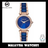(100% Original) MICHAEL KORS Ladies MK6527 Mini Parker Two-Tone Blue Dial Watch