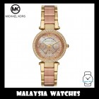(100% Original) MICHAEL KORS Ladies MK6477 Mini Parker Multifunction Two-Tone Stainless Steel Watch