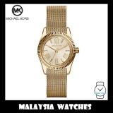 (100% Original) MICHAEL KORS Ladies MK3283 Petite Lexington Gold-Tone Mesh Stainless Steel Watch