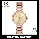 (100% Original) MICHAEL KORS Ladies MK3836 Courtney Rose Gold-Tone Stainless Steel Watch