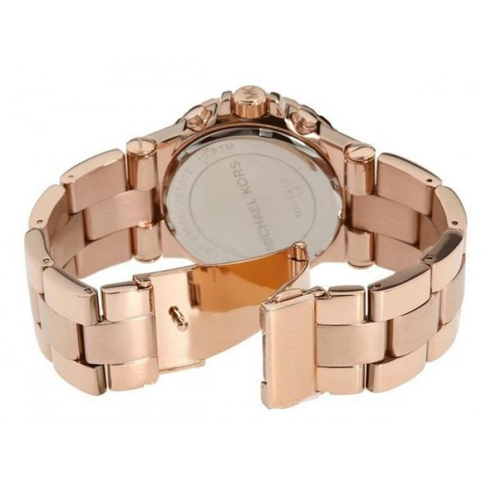 adc80da3dd3 (100% Original) MICHAEL KORS Ladies MK5314 Dylan Chronograph Rose Gold-Tone  Stainless Steel Watch