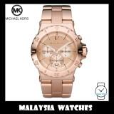 (100% Original) MICHAEL KORS Ladies MK5314 Dylan Chronograph Rose Gold-Tone Stainless Steel Watch