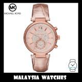(100% Original) MICHAEL KORS Ladies MK2445 Sawyer Rose Gold Chronograph Leather Watch