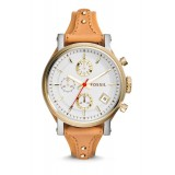 Fossil ES3615 Original Chronograph Leather Female Watch (Tan)