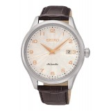 Seiko Automatic 100M SRP705K1 Leather Strap Gents Watch (Brown, Silver & Rose Gold)